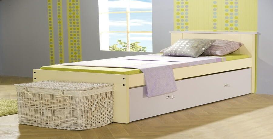 מיטה בעיצוב אישי - שמנת ויולט