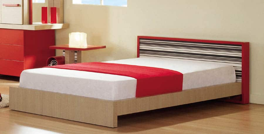 מיטת ילדים ונוער - דגם ברקוד