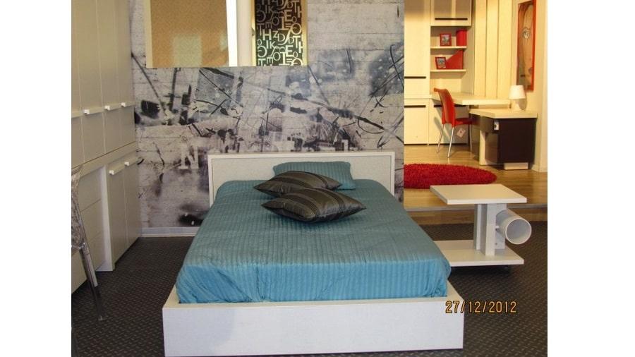 מיטה לילדים ונוער דגם אותיות- עיצוב אישי