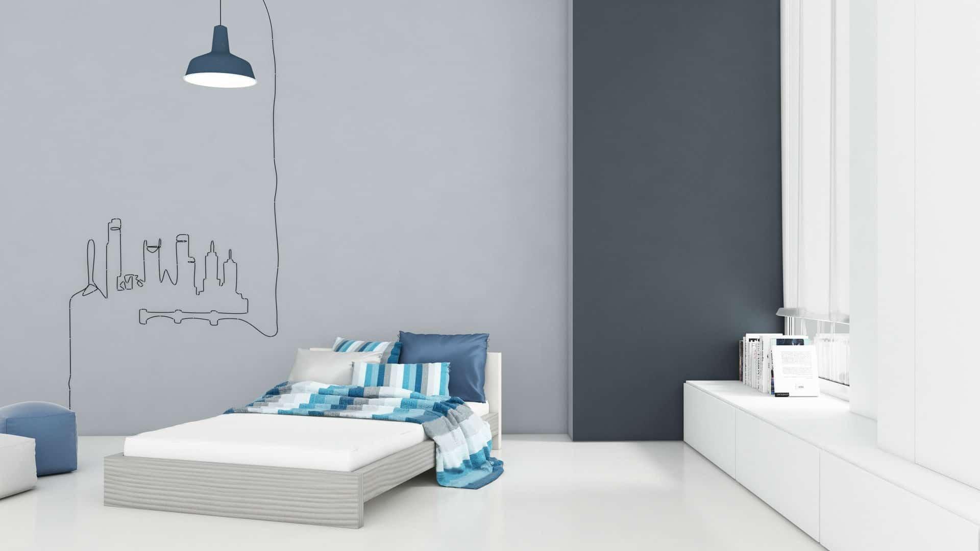 חדרי ילדים מיטת נוער דגם ברוש מהסדרה הצבעונית