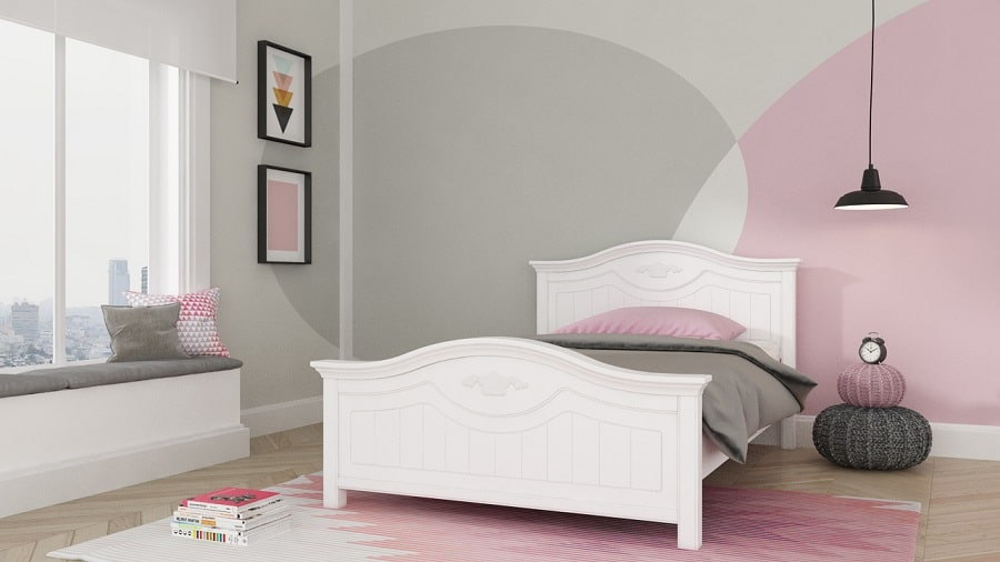 מיטת נוער - דגם עדי מהסדרה הלבנה