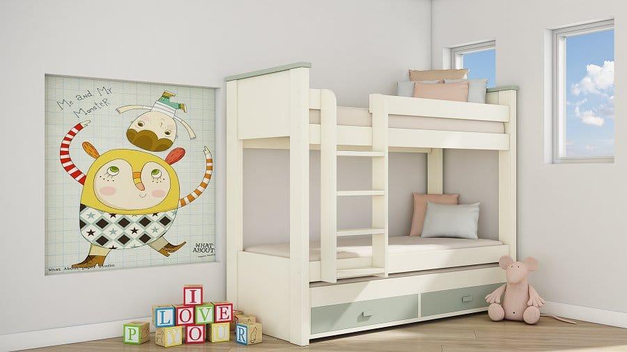 מיטת קומותיים מהסדרה הצבעונית