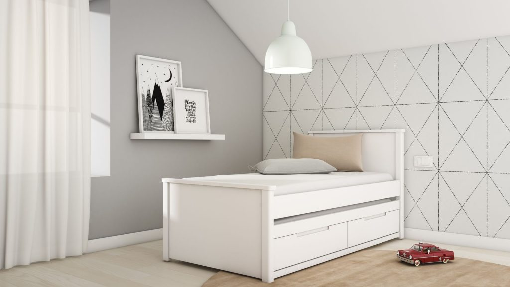 מיטת ילדים בעיצוב ייחודי- דגם שקד